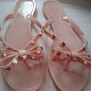 Authentic Valentino Rockstud flip-flops